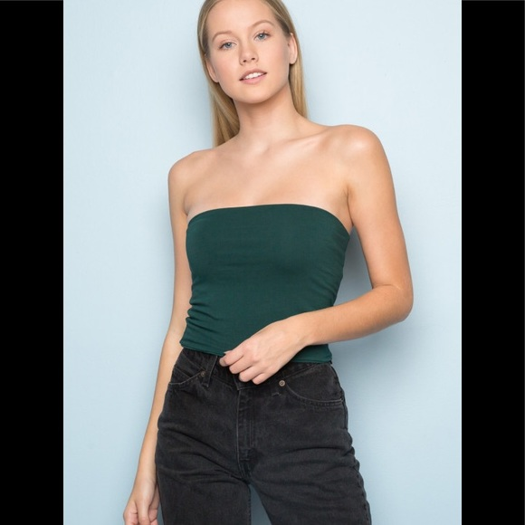 187fd08fd38 Brandy Melville forest green Jenny tube top